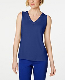 Glitter-Trim Tank Top, Created for Macys