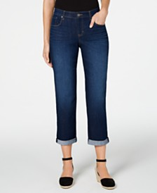 Style & Co Curvy Ex-Boyfriend Cropped Jeans, Created For Macy's
