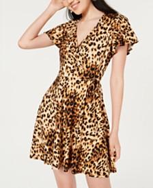 BCX Juniors' Printed Wrap Dress