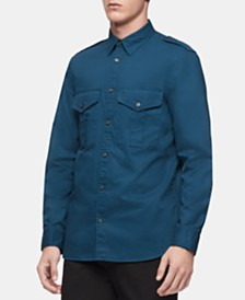 Calvin Klein Men's Military Shirt