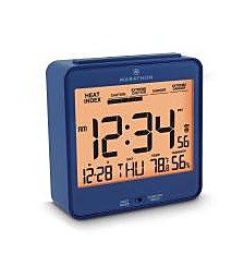 Atomic Alarm Clock with Humidex, Date and Indoor Temperature