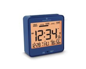 Marathon Atomic Alarm Clock with Humidex, Date and Indoor Temperature