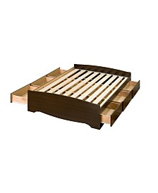 Prepac Queen Mate's Platform Storage Bed with 6 Drawers