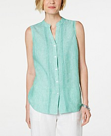 Lace Linen Blouse, Created for Macy's