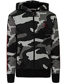 Jordan Little Boys Camo-Print Zip-Up Hoodie