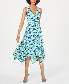 Printed Handkerchief-Hem Dress