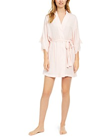 Women's Fairytale Satin Short Wrap Robe