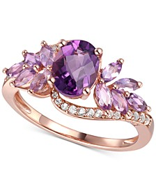 Amethyst (1-5/8 ct. t.w.) & Diamond (1/6 ct. t.w.) in 14k Rose Gold