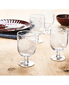 Lucky Brand Textured Goblets, Set of 4, Created For Macy's