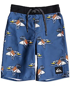 "Quiksilver Toddler & Little Boys Everyday Dinos Printed 14"" Swim Trunks"