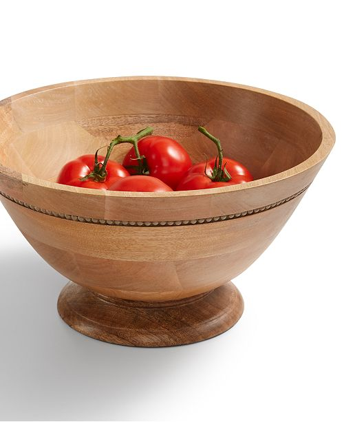 Martha Stewart Collection CLOSEOUT! Wood Salad Bowl, Created for Macy's