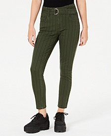 Juniors' Striped Twill Skinny Jeans