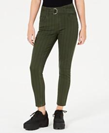 Indigo Rein Juniors' Striped Twill Skinny Jeans