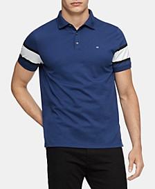 Men's Stripe-Sleeve Polo Shirt