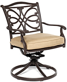 CLOSEOUT! Kingsley Cast Aluminum Outdoor Swivel Rocker