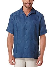 Short-Sleeve 4-Pocket 100% Linen Guayabera Shirt