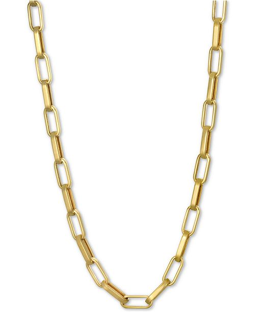 """Macy's Paperclip Link Chain 18"""" Chain Necklace in 14k Gold"""