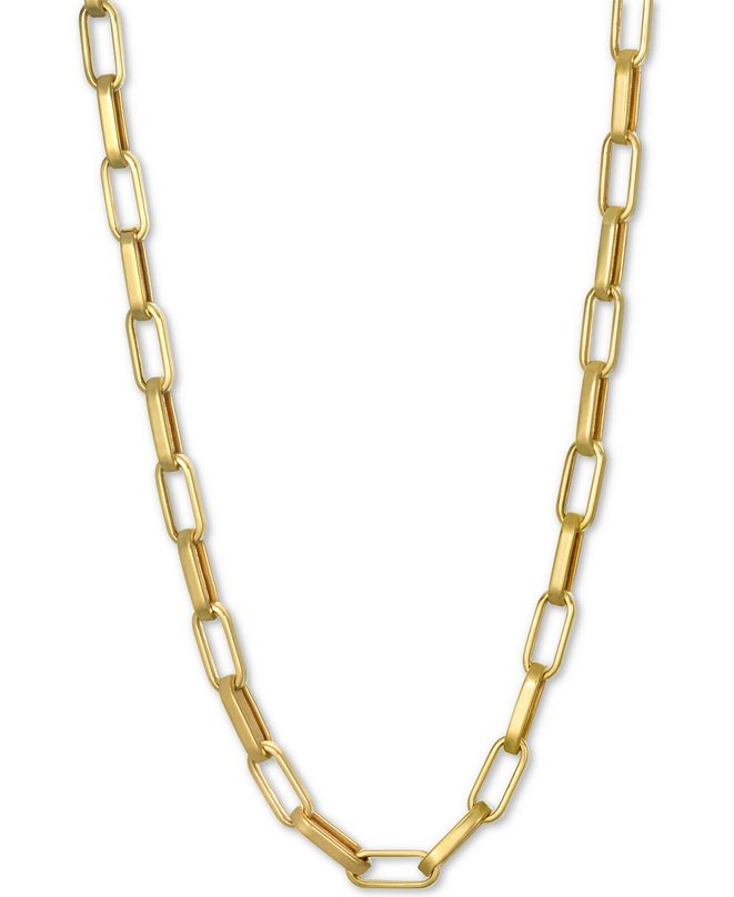 "Macy's Paperclip Link Chain 18"" Chain Necklace in 14k Gold"