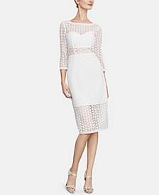 Daisy-Lace Sheath Dress
