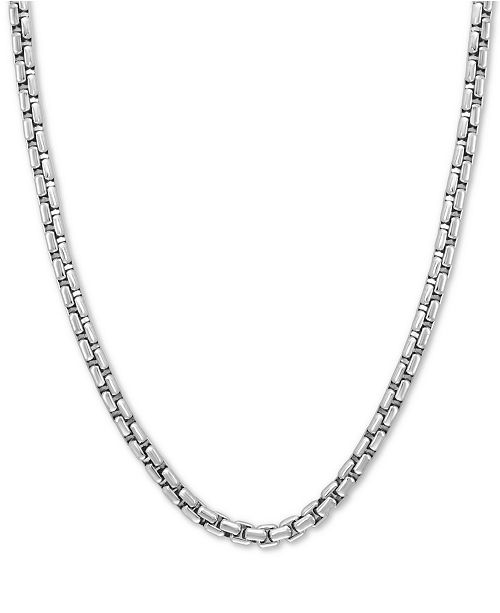 """EFFY Collection EFFY® Rounded Box Link 24"""" Chain Necklace in Sterling Silver"""
