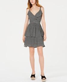 Bar III Printed Ruffled Dress, Created for Macy's