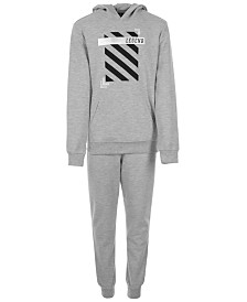 Ideology Big Boys Legend-Print Hoodie & Interlock Sweatpants, Created for Macy's