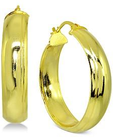 Giani Bernini Hoop Earrings in 18k Gold-Plate Over Sterling Silver, Created for Macy's