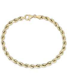 Rope Chain Bracelet in 10k Gold