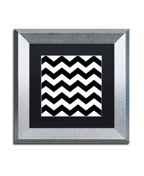 "Trademark Global Color Bakery 'Xmas Chevron 6' Matted Framed Art - 11"" x 11"""