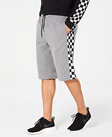 Men's Fleece Checkerboard Shorts, Created for Macy's