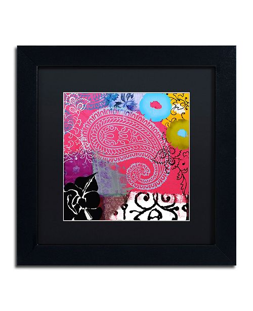 "Trademark Global Color Bakery 'Bali III' Matted Framed Art - 11"" x 11"""