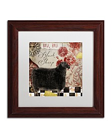 "Color Bakery 'Baa Baa Black Sheep' Matted Framed Art - 11"" x 11"""