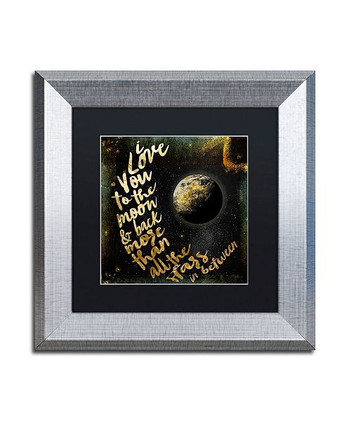 """Trademark Global Color Bakery 'Moon and Back I' Matted Framed Art - 11"""" x 11"""""""