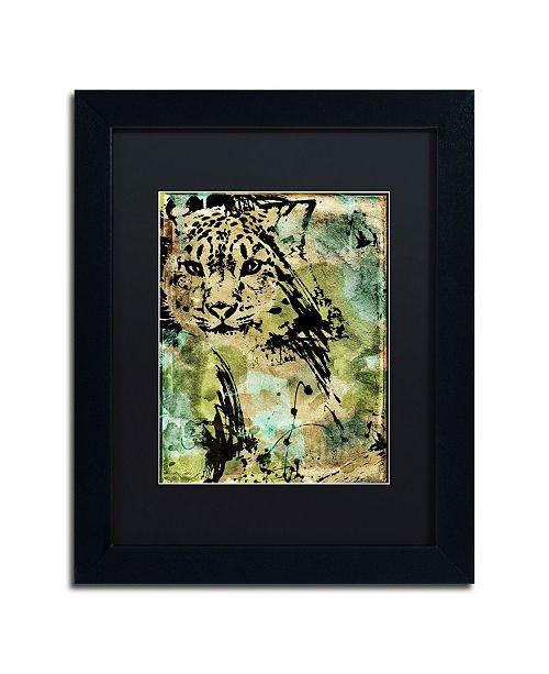 """Trademark Global Color Bakery 'Leopard Ink' Matted Framed Art - 11"""" x 14"""""""