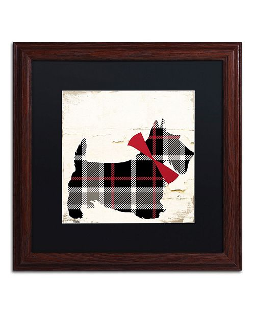"Trademark Global Color Bakery 'Scotty II' Matted Framed Art - 16"" x 16"""