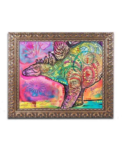 """Trademark Global Dean Russo 'Stegosaurus' Ornate Framed Art - 11"""" x 14"""""""