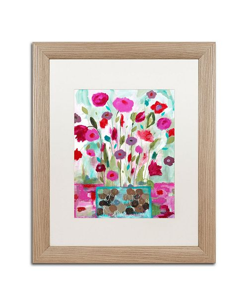 "Trademark Global Carrie Schmitt 'Winter Blooms' Matted Framed Art - 16"" x 20"""