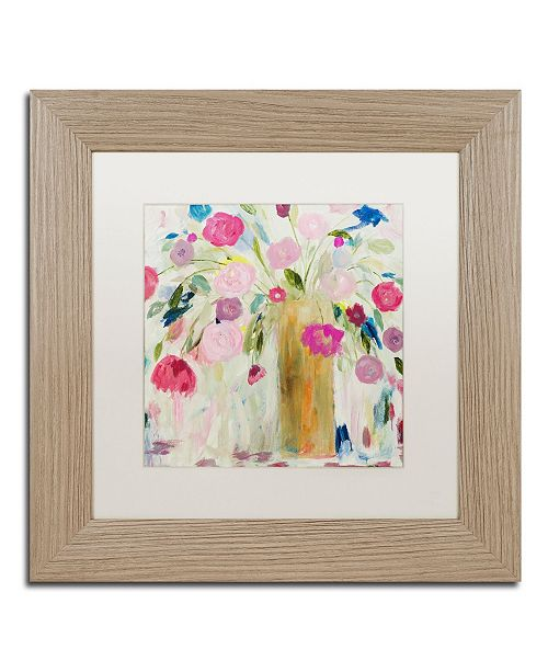 """Trademark Global Carrie Schmitt 'Friendship Blooms' Matted Framed Art - 11"""" x 11"""""""