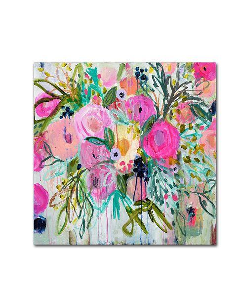 """Trademark Global Carrie Schmitt 'Rose Burst' Canvas Art - 24"""" x 24"""""""