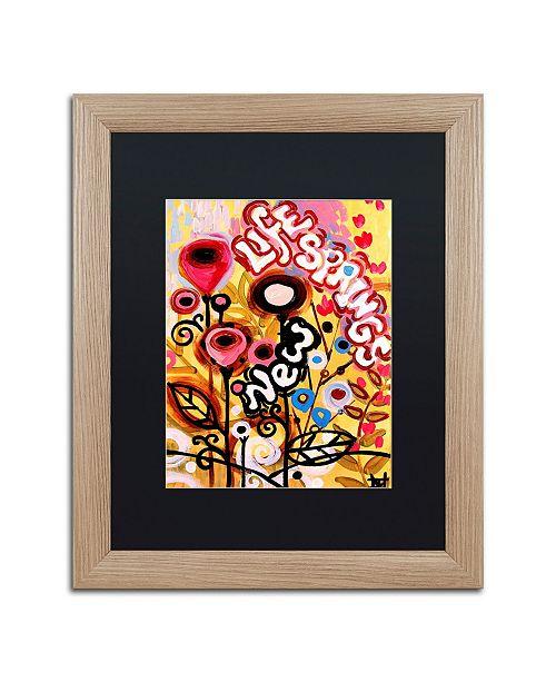 "Trademark Global Natasha Wescoat '104' Matted Framed Art - 16"" x 20"""