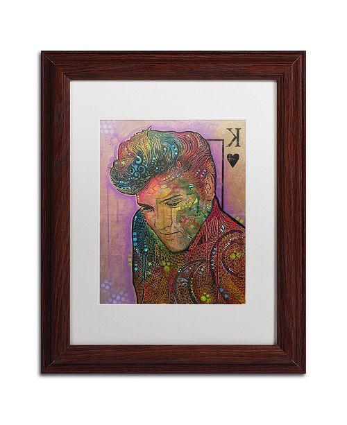 "Trademark Global Dean Russo 'Purple King' Matted Framed Art - 11"" x 14"""