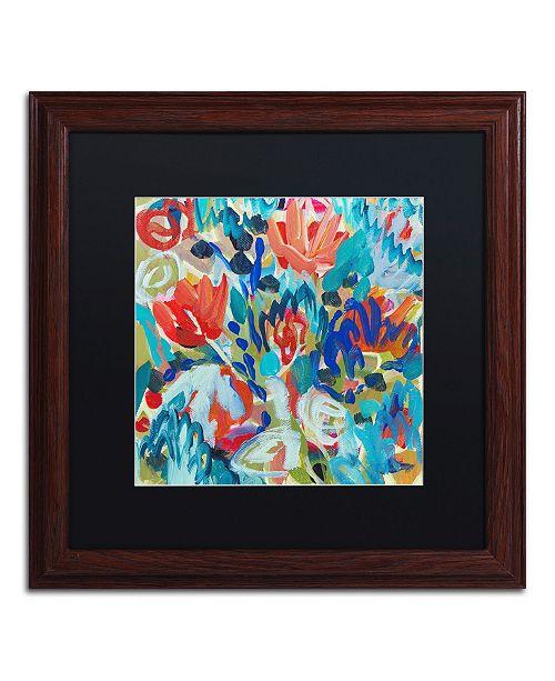 """Trademark Global Carrie Schmitt 'Asana' Matted Framed Art - 16"""" x 16"""""""