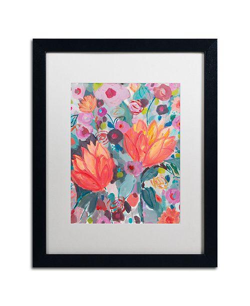 """Trademark Global Carrie Schmitt 'Inhalation' Matted Framed Art - 16"""" x 20"""""""