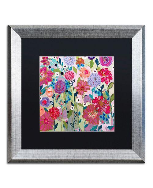 """Trademark Global Carrie Schmitt 'Adventures on the Garden Path' Matted Framed Art - 16"""" x 16"""""""