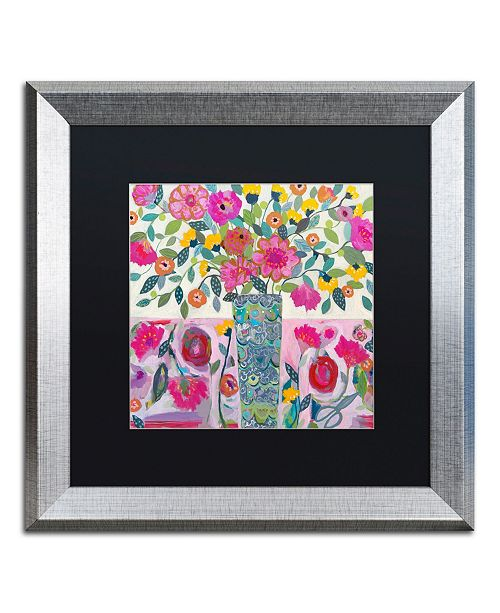 "Trademark Global Carrie Schmitt 'Amazing Vase' Matted Framed Art - 16"" x 16"""