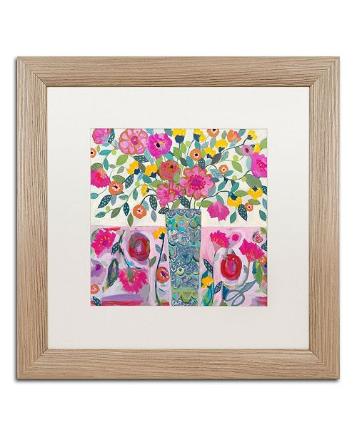 "Trademark Global Carrie Schmitt 'Amazing Vase' Matted Framed Art - 16"" x 16"""