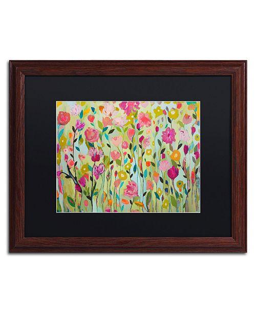 """Trademark Global Carrie Schmitt 'Natarajasana' Matted Framed Art - 16"""" x 20"""""""