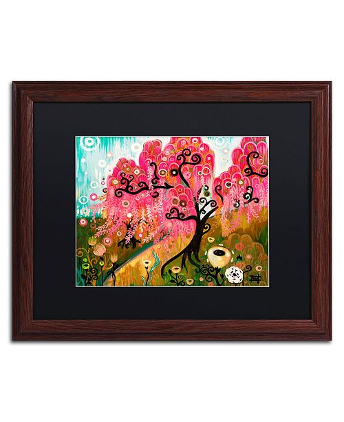 "Trademark Global Natasha Wescoat 'Cherry Blossom Willow' Matted Framed Art - 16"" x 20"""