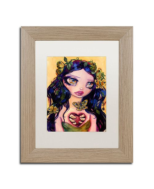 """Trademark Global Natasha Wescoat 'Eat Your Heart Out' Matted Framed Art - 11"""" x 14"""""""
