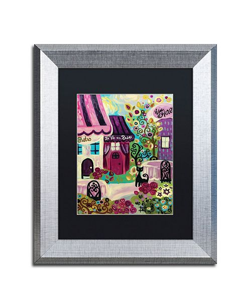 "Trademark Global Natasha Wescoat 'La Vie En Rose' Matted Framed Art - 11"" x 14"""